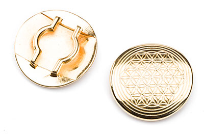 round loop 33mm gold color for strap 20mm x4pcs