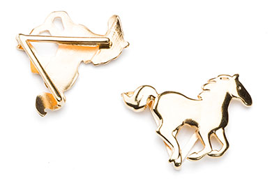 riding horse 38x24mm gold color for thong 20mm x5pcs
