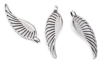 pendant wing 45x14mm x10pcs