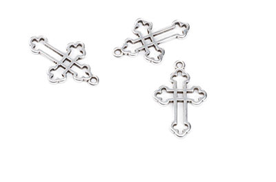 cross pendant 25x16mm x12pcs