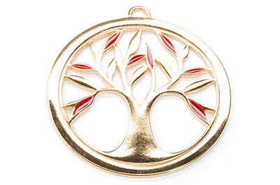 gold tree of life pendant 65mm x2pcs