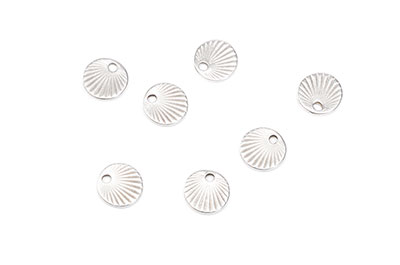 Round with rays 9x9mm silver x20pcs