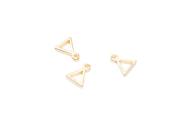 pendant triangle 8x11mm gold color x30pcs