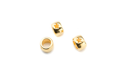 slider bead 7x9mm gold color x30pcs