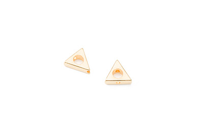 perle triangle 11mm doré x20pcs
