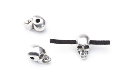 bead passing skull 18x10mm for cord 2,5mm x20pcs