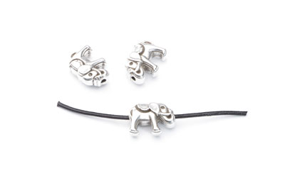 bead passing elephant 14x10mm x20pcs