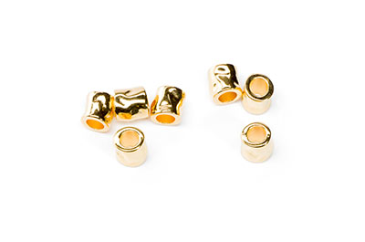 pearl hammered tube 7x7mm golden x20pcs