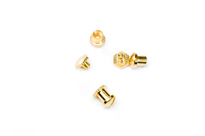 screw set round 6x7mm golden x16pcs