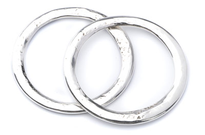 hammered ring 46mm x5pcs