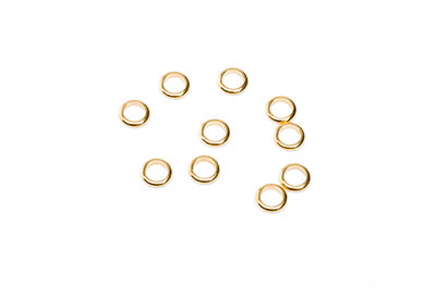 metal rings brass 6 / 1,2mm golden x80pcs