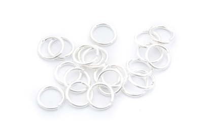 brass jumpring 12mm silver color x100pcs