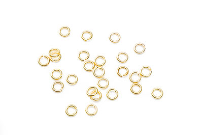 Ring open 5mm golden x500pcs