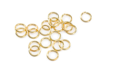 brass jumpring 9mm gold color x200pcs