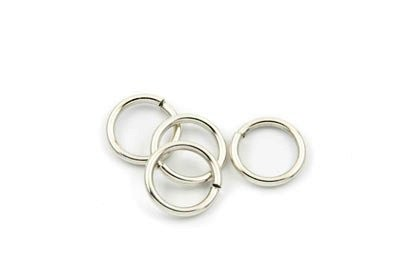 brass jumpring 16mm rhodium x 50pcs