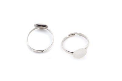 ring base 10mm disc rhodium color x20pcs