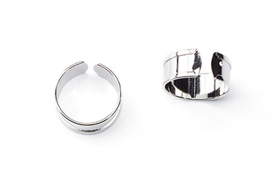 silver 9mm ring x4pcs