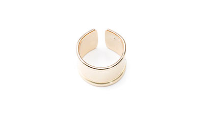 ring 15mm for 10mm flat band gold color x4pcs