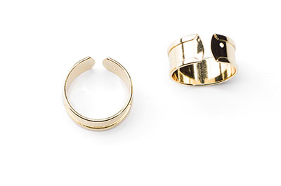 9mm golden ring x4pcs