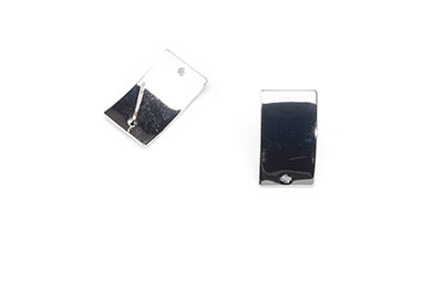 curved rectangle earring 18x10mm 1hole x6pcs