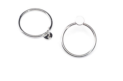 circle earring 23mm x6pcs