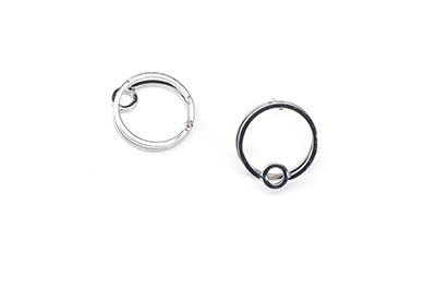 double circle earring 15mm x4pcs