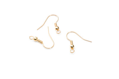 Haken Ohrring 18mm gold x100pcs