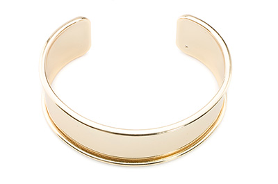 Armband für 20mm flaches Band 66x24mm gold color x2pcs