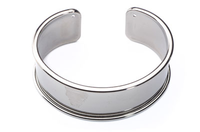 bracelet for 20mm flat band 66x24mmgun metal x2pcs