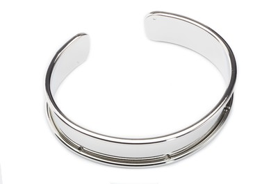 bracelet rhodium for 10mm flat band 66x15mm x3pcs