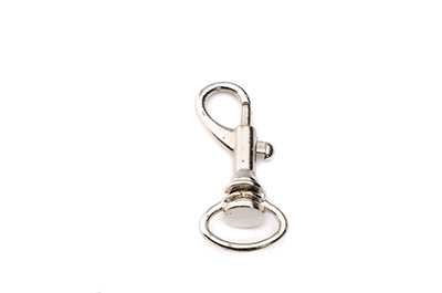 porte clef mousqueton 40x17mm rhodium x10pcs