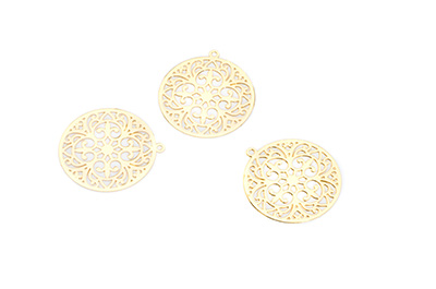 laser cut rond 20mm doré x20pcs