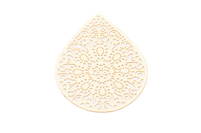 laser cut drop 49x39mm gold color x6pcs
