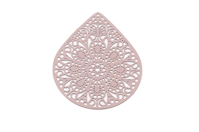 laser cut goutte 49x39mm marron glacé x6pcs
