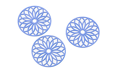 laser cut rond 24mm bleu x10pcs