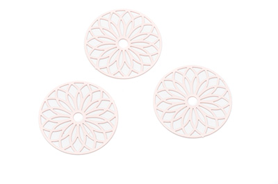 laser cut rond 25mm saumon x10pcs