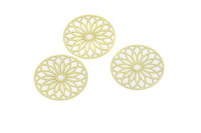 laser cut rond 24mm jaune x10pcs