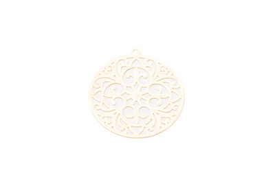 laser cut rond 30mm doré x10pcs