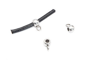 slider 6x12mm with pendant holder for 3mm cord x40pcs