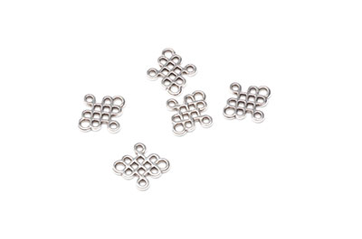 Celtic symbol connector 6x12mm silver x25pcs