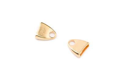 flat end 13mm gold color for cord x20pcs
