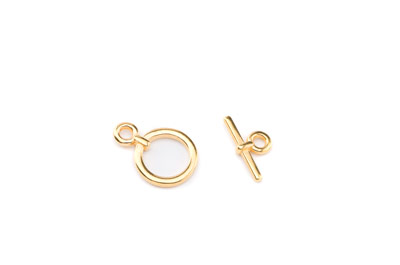 toggle clasp round 13mm gold color x20pcs