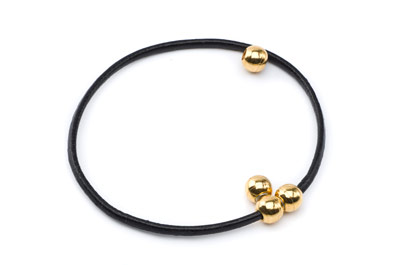 brass magnetic clasp round gold color for 2mm cords x15pcs