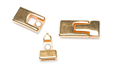 magnetic clasp 30X13mm golden for strap 10mm x4pcs