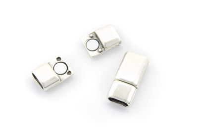 magnet clasp 25x13mm for round leather x5pcs