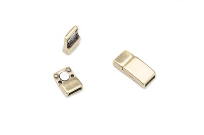 magnetic clasp 17x8mm hole: 6x2mm bronze x10pcs