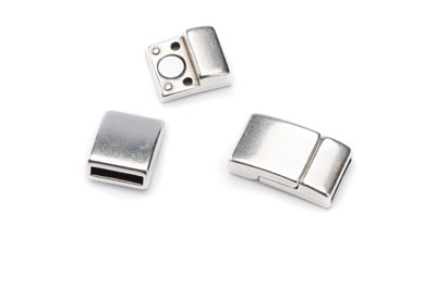 magnetic clasp 21*12mm for 10mm flat band x5pcs