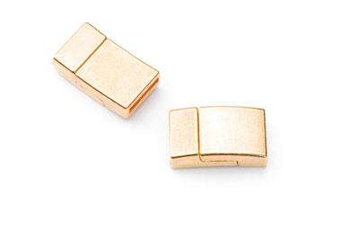 magnetic clasp 21*12mm for 10mm flat band gold x5pcs