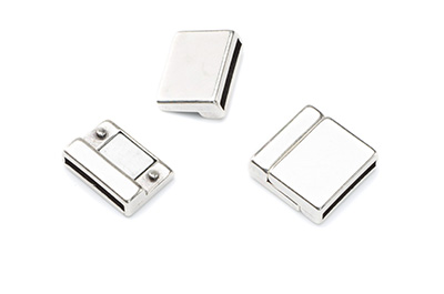 magnetic clasp 18x18mm for 15mm flat band x3pcs