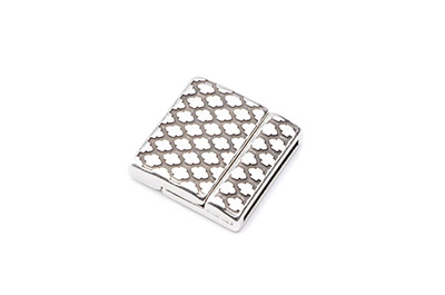magnet clasp 24mm rhombus for 20mm flat leather x3pcs